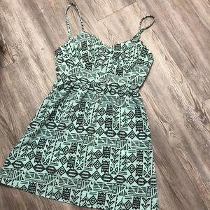 Tribal Patterned Mini Dress